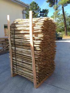 ganivelle ganivelles clôture girondine clôture en bois clôture en acacia